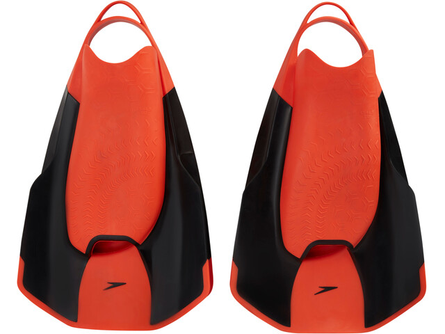 speedo Fastskin Kick Fin Black/Siren Red